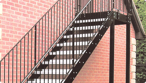 Surrey Wrought Iron Fire Escape Staircases