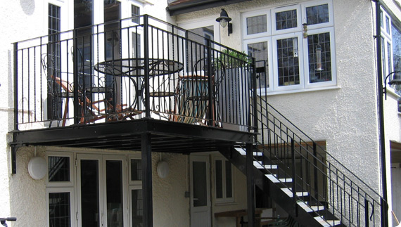 Surrey wrought iron balconies woking guildford for Metal balcony